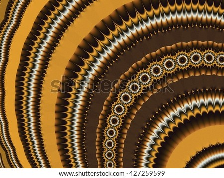 Fractal artwork for creative design. Abstract brown ornament.