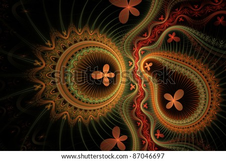 Fractal Background - stock photo