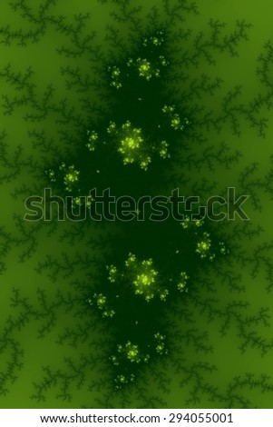 Fractal background image with green colors. - stock photo
