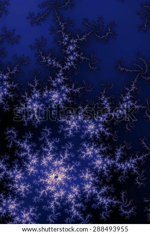Fractal background in the different shades of dark blue. - stock photo