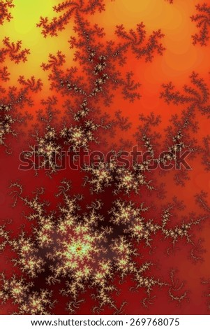 Fractal background in the different shades of dark red. - stock photo
