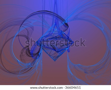 Fractal. Bright colorful abstract background.