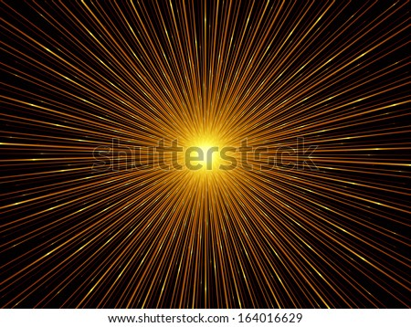 Fractal Burst series. Composition of fractal radial burst pattern suitable as a backdrop for the projects on science, technology and design - stock photo