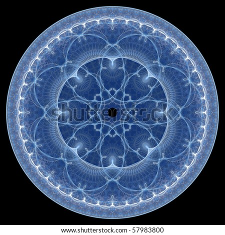 fractal circle ornament - stock photo