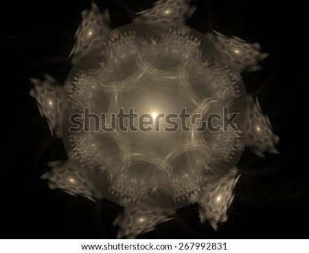 Fractal Elements series. Composition of fractal shapes and colors with metaphorical relationship to art creativity imagination science and design - stock photo