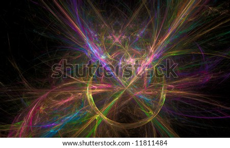 Fractal flame series of various nebula cloud conceptualizations