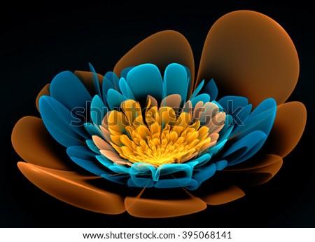 Fractal Flower Fantasy - stock photo