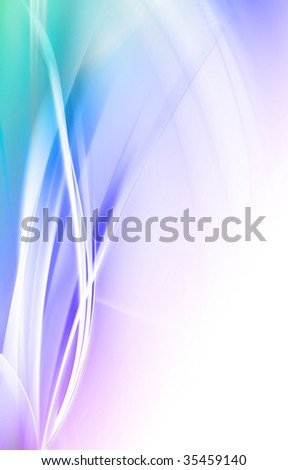 Fractal generated nice Design or art element - stock photo