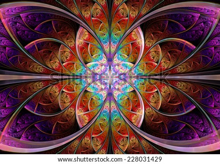 Fractal Geometry Butterfly - stock photo