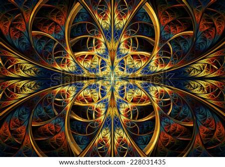 Fractal Geometry creative - stock photo