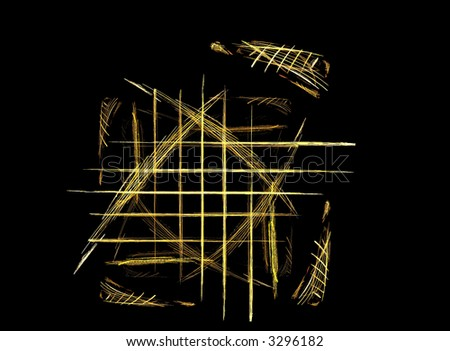 Fractal - grill pattern with mirrored similar shapes - stock photo
