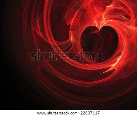 Fractal heart design - stock photo