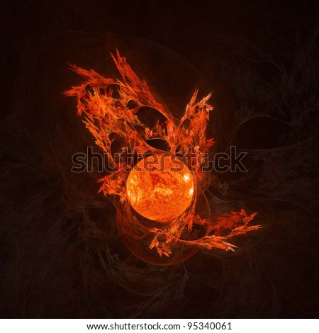 Fractal illustration great for your backgrounds and compositions. - stock photo