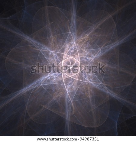 Fractal illustration. Great for your compositions and background. - stock photo
