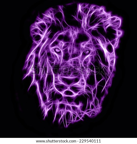 Fractal illustration of an African Lion