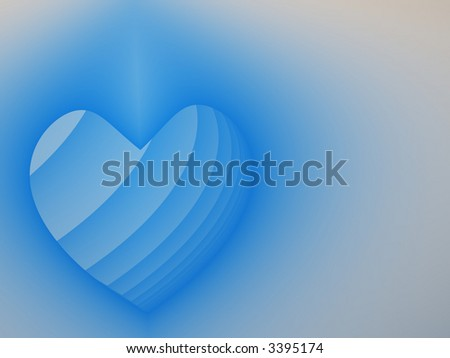 Fractal image depicting a heart with copy space for a valentine background.
