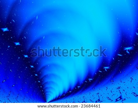 Fractal image depicting an abstract tornado. - stock photo