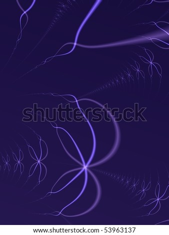 Fractal image depicting cellular DNA strands in a complex chromosome. - stock photo