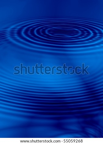 Fractal image of abstract clouds against a blue sky reflected in water that can be used as a background. - stock photo