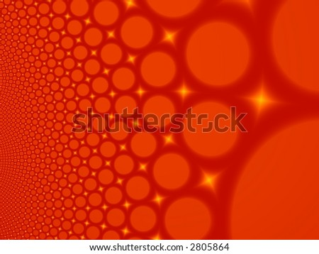 Fractal image of abstract lava bubbles for a background. - stock photo