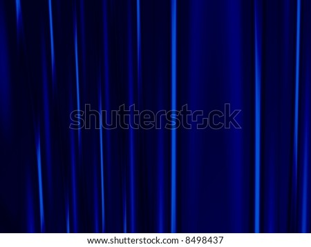 Fractal image of heavy velvet stage curtains. - stock photo