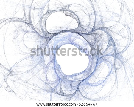 Fractal image on a white background - stock photo