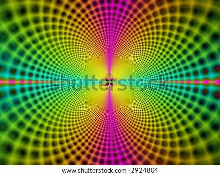 fractal of dispersing waves - stock photo