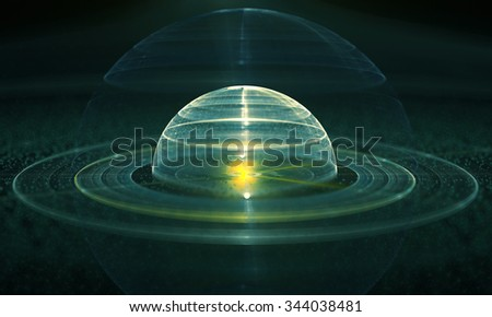 Fractal orb. Fractal digital artwork, illustration - stock photo