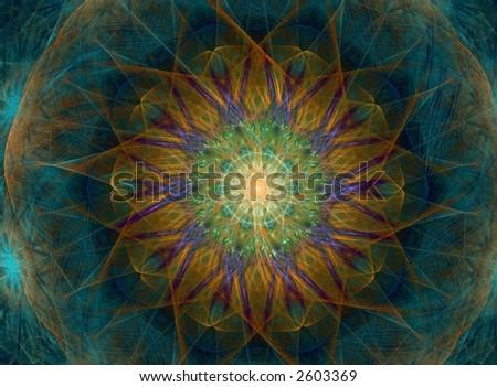 fractal pattern - stock photo