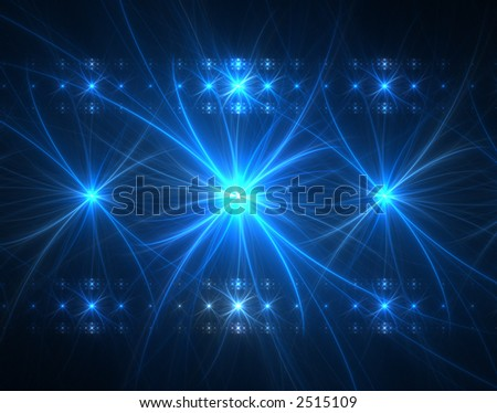 fractal rendering resembling a concert stage and lights - stock photo