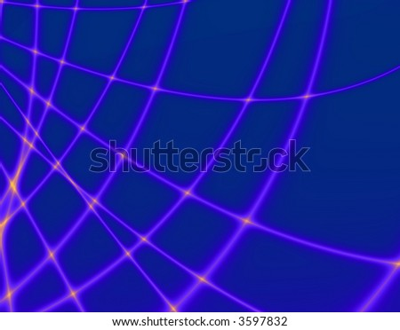Fractal rendition of an blue abstract net - stock photo