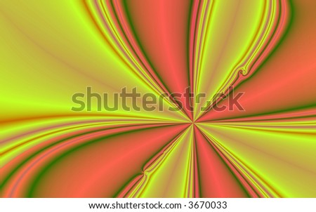 Fractal rendition of yellow curves back ground