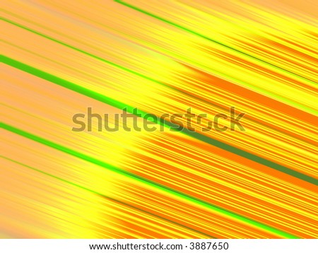 Fractal rendition of yellow flame on orange background