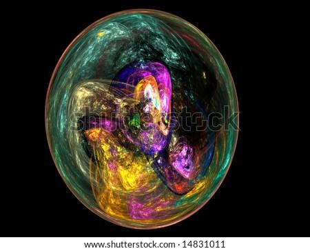 fractal sphere - stock photo