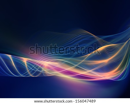Fractal Wave series. Artistic background made of fractal sine waves and color for use with projects on design, mathematics and modern technologies