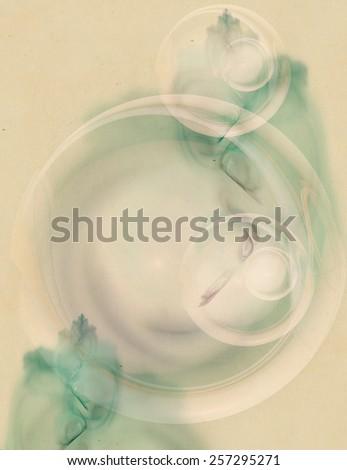Fractals on vintage background  - stock photo