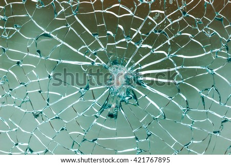 Fractured Mirrors Background  / Cracks in the glass / Crackle mosaic background - stock photo