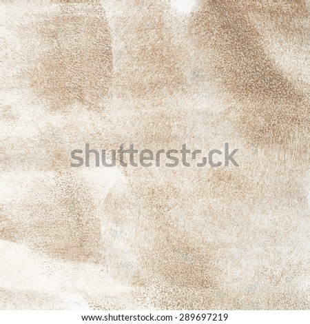 Fragement of paper brushed with the brown paint as an abstract backrgound texture composition - stock photo