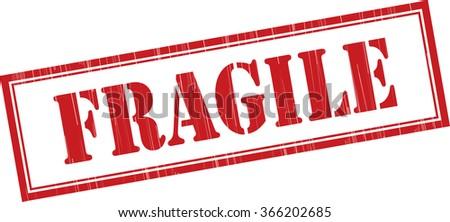 Fragile grunge rubber stamp. - stock photo