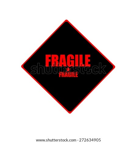 fragile red stamp text on black background - stock photo