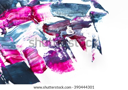 Fragment abstract modern painting. Background with expressive splashes of paint. Acrylic on cardboard. Colorful background - stock photo