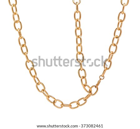 Fragment of a chain on white background