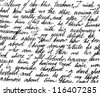 Fragment of a handwritten letter. Can be used for background. - stock vector