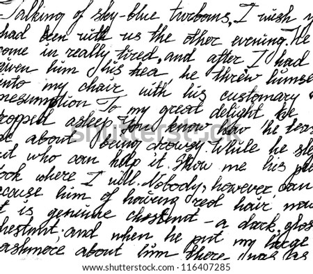 fragment of a handwritten letter can be used for background