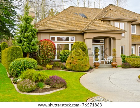 Fragment nice house stock photo 75148132 shutterstock for Nice houses in canada