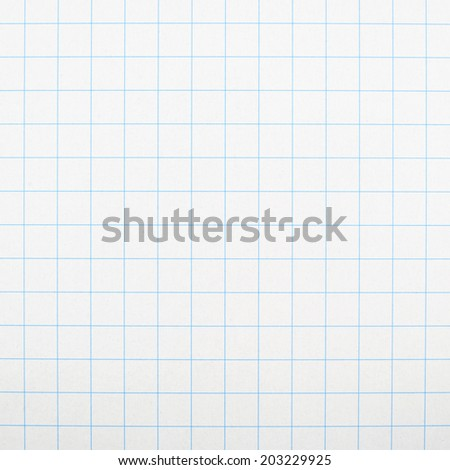 Fragment of a squared piece of paper as a background texture - stock photo