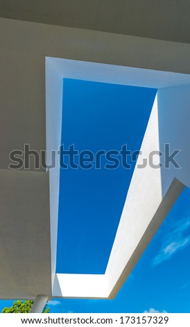 Fragment of abstract architecture building construction design. - stock photo