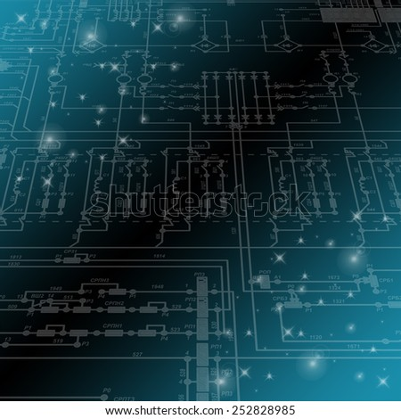 electric circuit diagram stock images royalty images fragment of an electrical circuit on a blue background