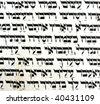 Fragment of Ancient Haggadah useful for background - stock photo