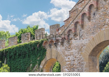 Fragment of ancient ramparts. Florence, Italy  - stock photo